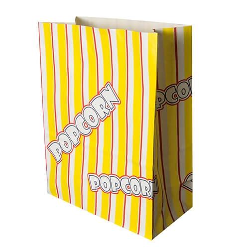 "Popcorn Tüten, Pergament-Ersatz 4,5 l 24,5 cm x 19 cm x 9,5 cm ""Popcorn"" fettdicht"