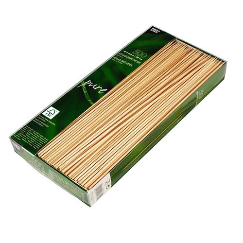 "6 x 500 Schaschlikspieße, Holz ""pure"" Ø 3 mm · 30 cm"