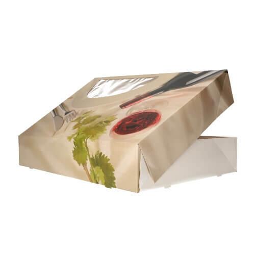 """Transport- und Catering-Kartons 8 cm x 46 cm x 31 cm """"Burgund"""" mit Sichtfenster, einteilig"""