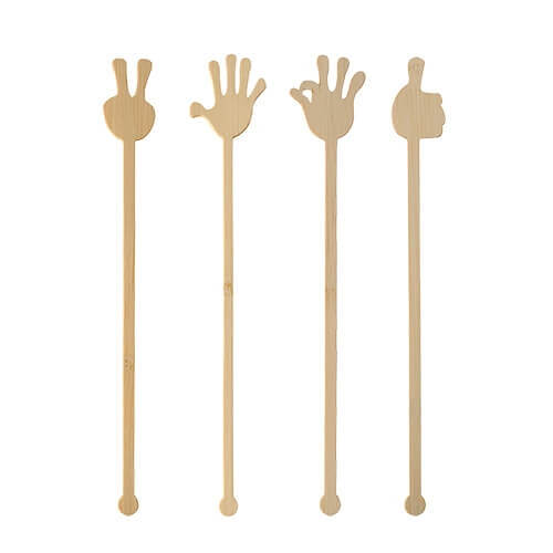 """Getränke-Quirle, Bambus """"pure"""" 21 cm """"Hands"""""""