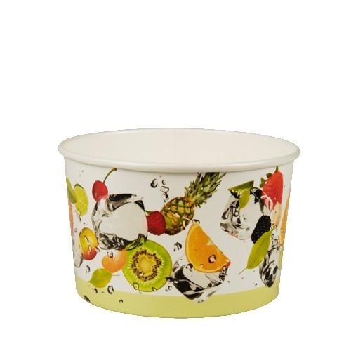 """3 x 100 Eisbecher, Pappe """"pure"""" rund 250 ml Ø 10,2 cm · 6,2 cm """"Früchte"""""""