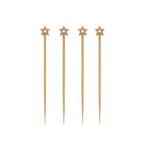 "10 x 100 Fingerfood - Spieße ""pure"" 12 cm ""Star"""