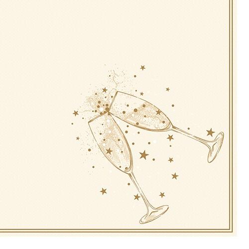 """Servietten """"ROYAL Collection"""" 1/4-Falz 40 cm x 40 cm gold """"Festivity"""""""