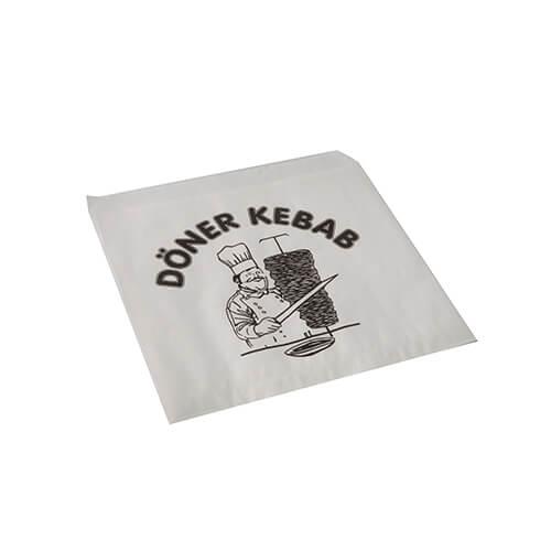 Döner-Kebab-Tüten 16 cm x 16 cm weiss