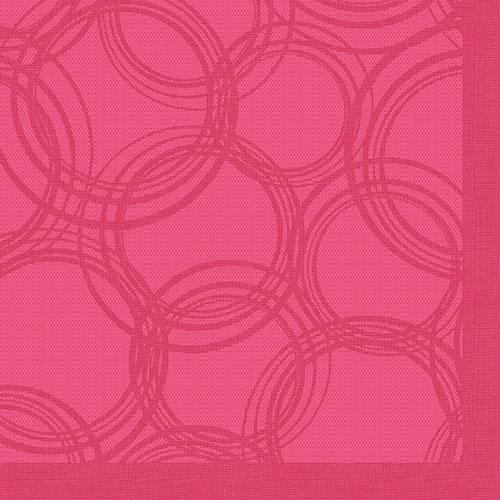 """Servietten """"ROYAL Collection"""" 1/4-Falz 40 cm x 40 cm fuchsia """"Bubbles"""""""