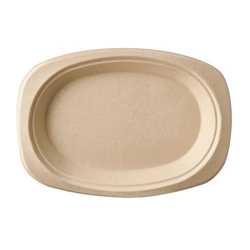 "10 x 50 Teller, Zuckerrohr ""pure"" oval 23 cm x 16 cm x 2 cm natur"