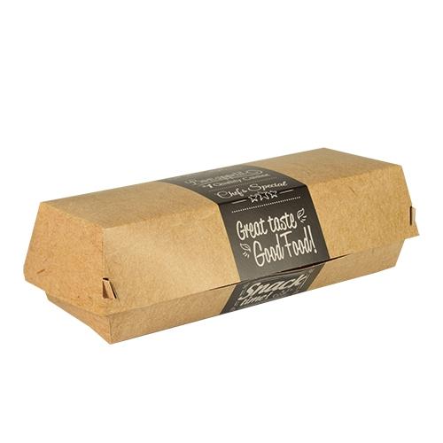 """6 x 50 Baguetteboxen, Pappe """"pure"""" 6,2 cm x 7,5 cm x 21 cm """"Good Food"""""""