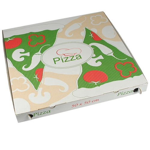 """1 * 50 Pizzakartons, Cellulose """"pure"""" eckig 50 cm x 50 cm x 5 cm"""