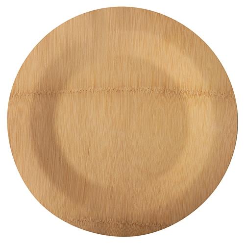 """25 x 10 Teller, Bambus """"pure"""" ungeteilt Ø 28 cm · 1,5 cm"""