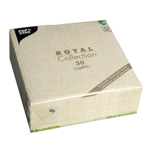 """5 x 50 Servietten """"ROYAL Collection"""" 1/4-Falz 40 cm x 40 cm champagner """"Casali"""""""
