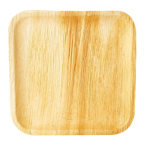 "10 x 6 Teller, Palmblatt ""pure"" eckig 25,5 cm x 25,5 cm x 1,5 cm"