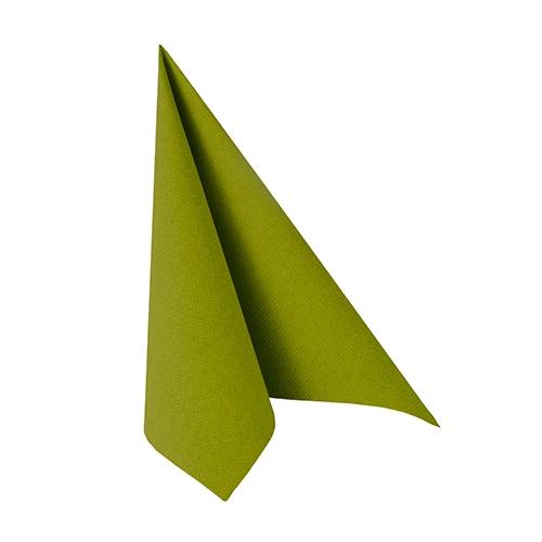 """14 x 20 Servietten """"ROYAL Collection"""" 1/4-Falz 25 cm x 25 cm olivgrün"""