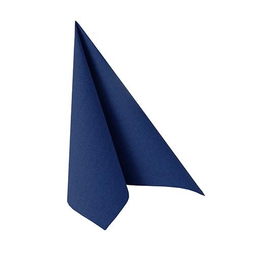 """6 x 50 Servietten """"ROYAL Collection"""" 1/4-Falz 25 cm x 25 cm dunkelblau"""