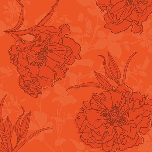 """Servietten """"ROYAL Collection"""" 1/4-Falz 40 cm x 40 cm nektarine """"Thalia"""""""