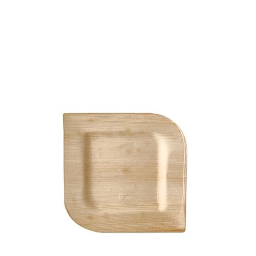 "4 * 25 Teller, Palmblatt ""pure"" eckig 15 cm x 15 cm x 1,5 cm"