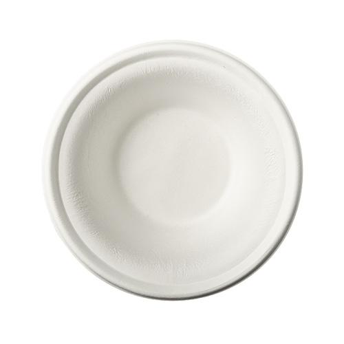 """1 x 100 Schalen, Zuckerrohr """"pure"""" 380 ml Ø 15,5 cm · 4,6 cm weiss"""