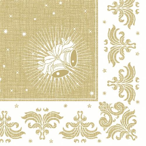 """Servietten """"ROYAL Collection"""" 1/4-Falz 40 cm x 40 cm gold """"Christmas"""""""