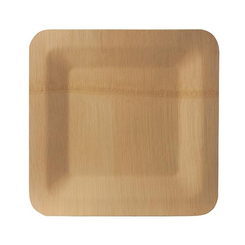 "25 x 10 Teller, Bambus ""pure"" eckig 1,5 cm x 23 cm x 23 cm"