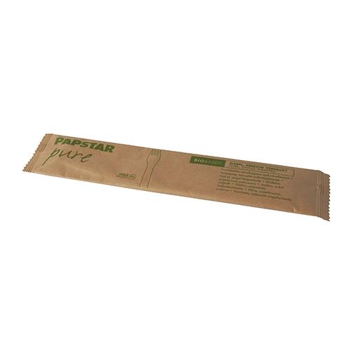 "10 x 50 Gabeln, Holz ""pure"" 15,5 cm einzeln verpackt in Papierbeutel"