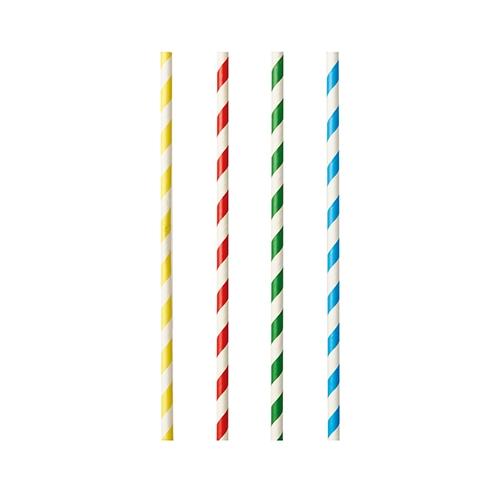 "Shake-Halme, Papier Ø 8 mm · 21 cm farbig sortiert ""Stripes"""