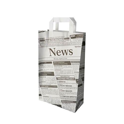 """Tragetaschen, Papier 36 cm x 22 cm x 10 cm """"Newsprint"""" mit Tragegriff"""