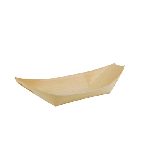 """10 * 50 Fingerfood - Schalen, Holz """"pure"""" 21,5 cm x 10 cm """"Schiffchen"""""""