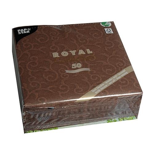 "Servietten ""ROYAL Collection"" 1/4-Falz 40 cm x 40 cm braun ""Casali"""