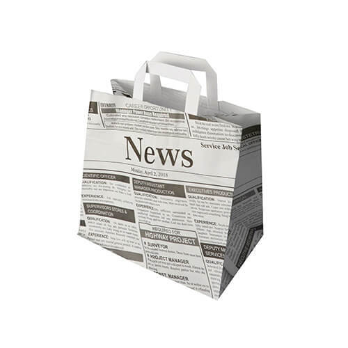 """Tragetaschen, Papier 25 cm x 26 cm x 17 cm """"Newsprint"""" mit Tragegriff"""