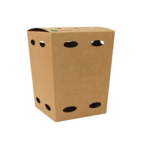 """6 x 50 Pommes-Frites-Boxen, Pappe """"pure"""" 15 cm x 10,5 cm x 10,5 cm braun """"100% Fair"""" klein"""