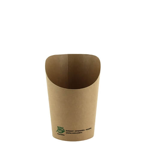 "20 x 50 Wrap-cups, Pappe ""pure"" 230 ml 11,3 cm x 6 cm x 8 cm braun ""100% Fair"""