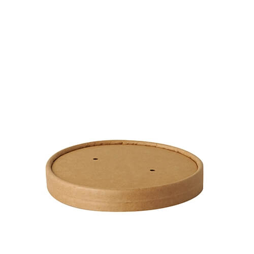 """Deckel für Suppenbecher, Pappe """"pure"""" rund Ø 11,5 cm · 1,6 cm braun """"100% Fair"""""""