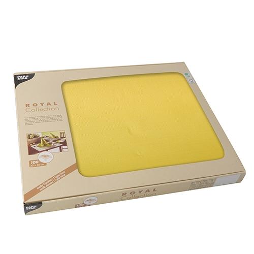 """Tischsets, Tissue """"ROYAL Collection"""" 30 cm x 40 cm gelb"""
