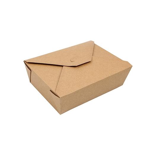 """3 * 50 Lunchboxen, Pappe """"pure"""" 2000 ml 6,5 cm x 14 cm x 19,7 cm braun"""