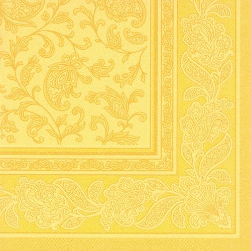 """Servietten """"ROYAL Collection"""" 1/4-Falz 40 cm x 40 cm gelb """"Ornaments"""""""