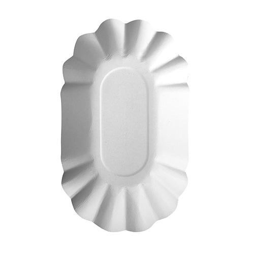 "4 x 250 Schalen, Pappe ""pure"" oval 9 cm x 16 cm x 3 cm weiss"