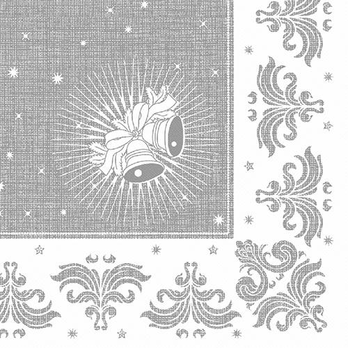 "Servietten ""ROYAL Collection"" 1/4-Falz 40 cm x 40 cm silber ""Christmas"""