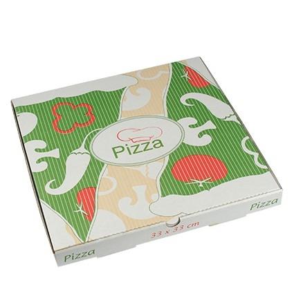 """Pizzakartons, Cellulose """"pure"""" eckig 33 cm x 33 cm x 3 cm"""