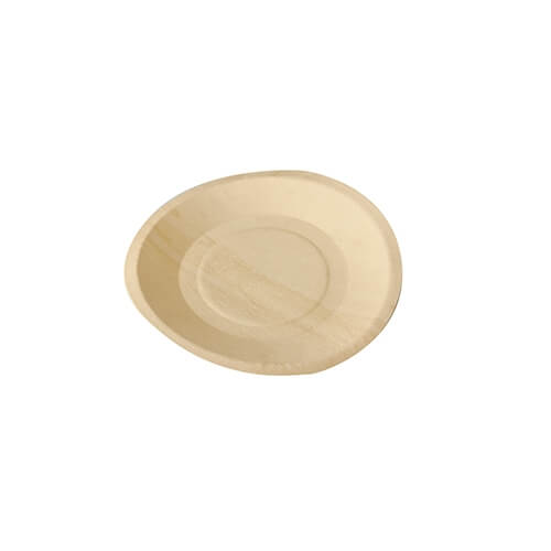 """10 x 50 Fingerfood - Teller, Holz """"pure"""" rund Ø 19 cm · 2 cm"""