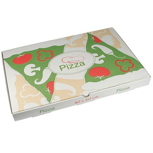 """1 x 50 Pizzakartons, Cellulose """"pure"""" eckig 40 cm x 60 cm x 5 cm"""