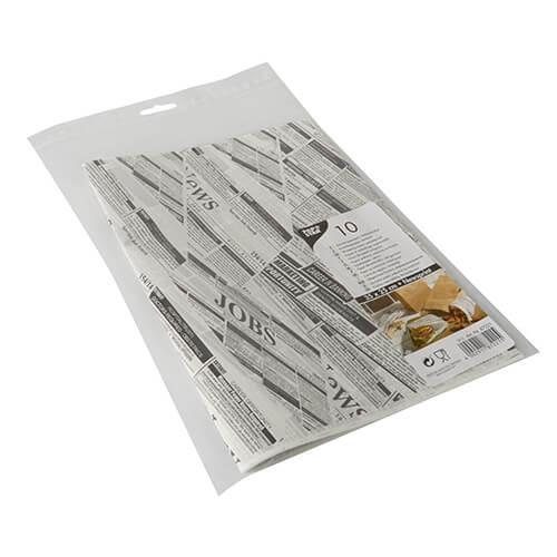"""Einschlagpapiere, Pergament-Ersatz 35 cm x 25 cm """"Newsprint"""" fettdicht"""
