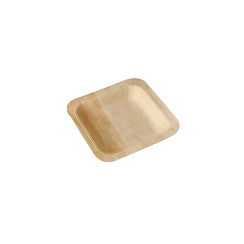 """10 x 50 Fingerfood - Teller, Holz """"pure"""" eckig 14 cm x 14 cm"""
