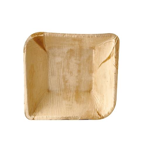 "4 x 25 Schalen, Palmblatt ""pure"" eckig 300 ml 14 cm x 14 cm x 4,5 cm"