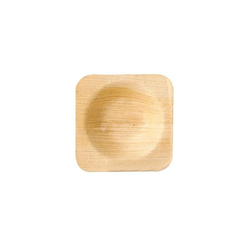 "10 * 25 Schalen, Palmblatt ""pure"" eckig 6 cm x 6 cm x 1,3 cm"