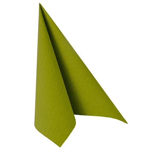 """8 x 20 Servietten """"ROYAL Collection"""" 1/4-Falz 40 cm x 40 cm olivgrün"""