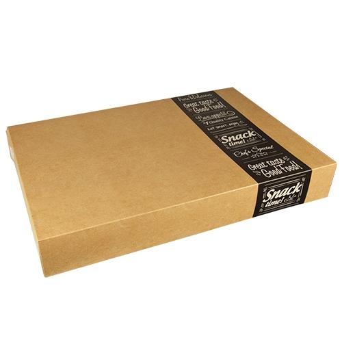 "Transport- und Catering-Kartons ""pure"" eckig 8 cm x 37,6 cm x 55,7 cm ""Good Food"" groß"
