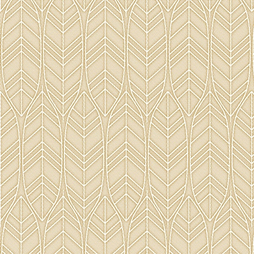"""5 x 50 Servietten """"ROYAL Collection"""" 1/4-Falz 40 cm x 40 cm sand """"Leaves"""""""