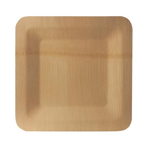 """25 x 10 Teller, Bambus """"pure"""" eckig 1,5 cm x 25,5 cm x 25,5 cm natur"""