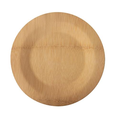 """25 x 10 Teller, Bambus """"pure"""" ungeteilt Ø 23 cm · 1,5 cm"""