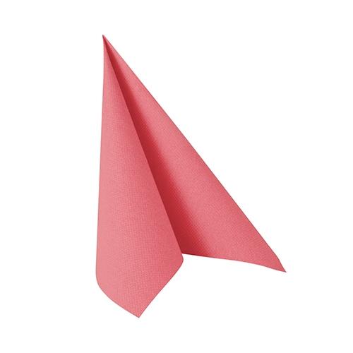 """14 x 20 Servietten """"ROYAL Collection"""" 1/4-Falz 25 cm x 25 cm rosa"""