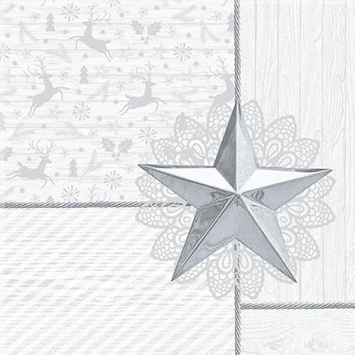 """5 x 50 Servietten """"ROYAL Collection"""" 1/4-Falz 40 cm x 40 cm weiss """"Rising Star"""""""